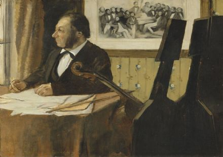 Degas, Edgar: The Cellist Pilet. Fine Art Print/Poster. Sizes: A4/A3/A2/A1 (003764)